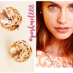 :: S&D Sparkling Nancy Studs Peach Crystal